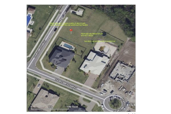 Google Earth Picture With Notes For Owner of Proposed Work